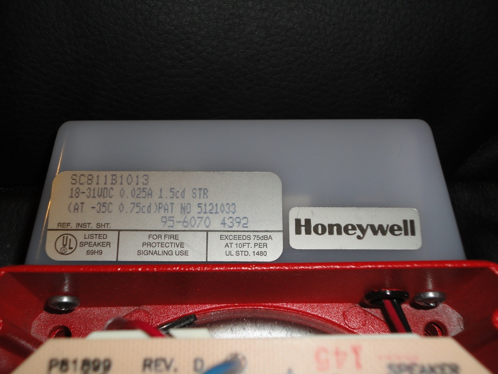 Honeywell_SC811B1013_Label