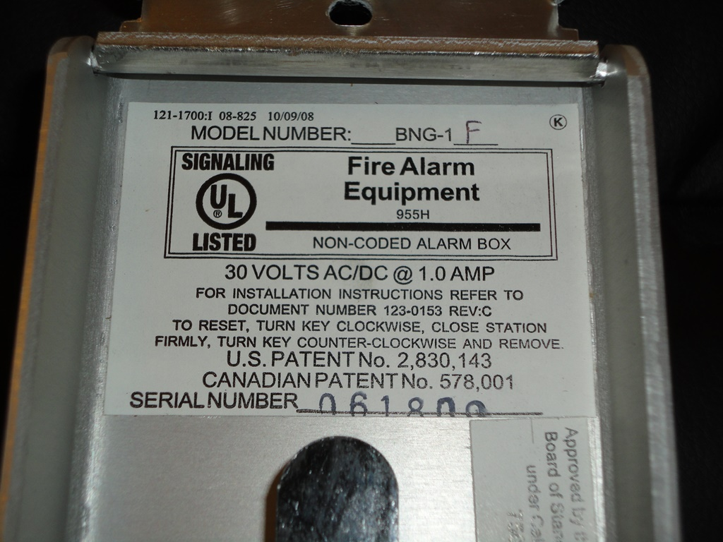 Notifier_BNG-1F_Label