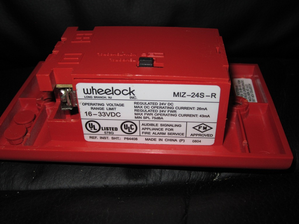 Wheelock_MIZ-24S-R_Label